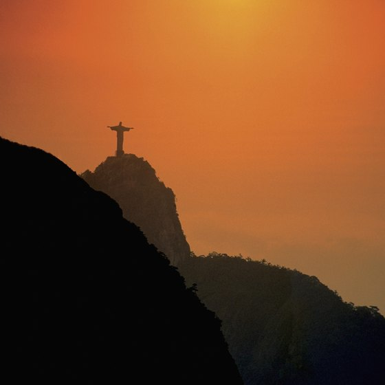 One of South America's best-known landmarks looks over Rio.
