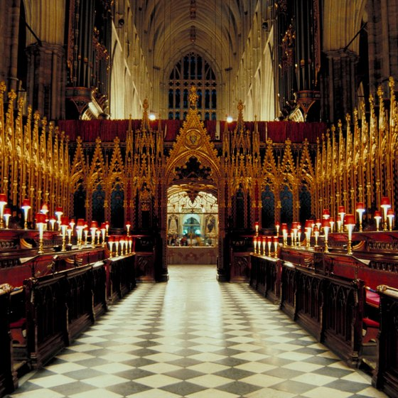 London's Westminster Abbey tells the history of the British monarchy, many of whom are buried there.