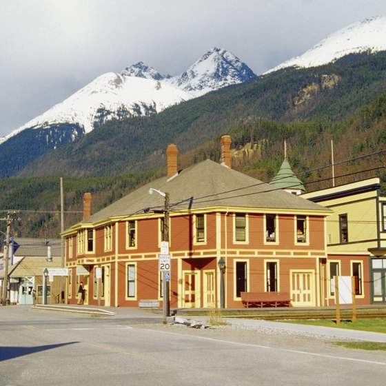 Skagway's old train depot houses the Klondike Gold Rush National Park's visitor center.