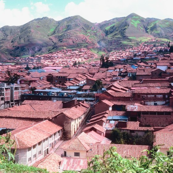 The city of Cuzco in the Peruvian highlands.