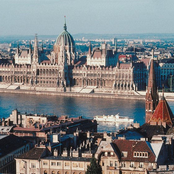 Budapest lies on two banks of the Danube River.