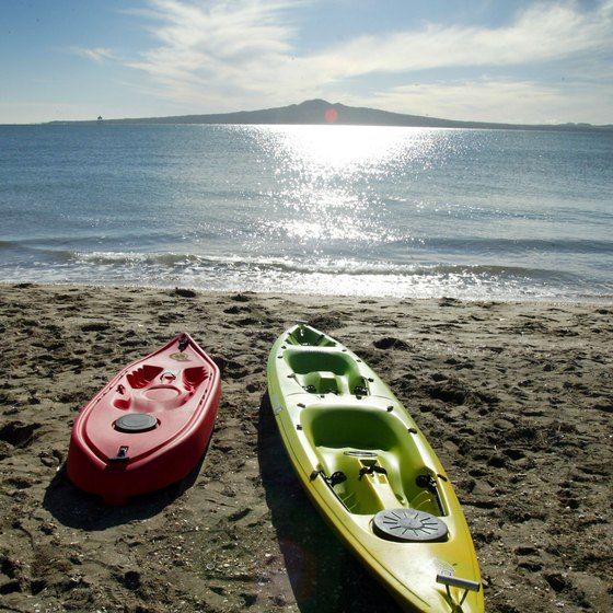 Kayaking is a popular summer Mission Beach pastime.
