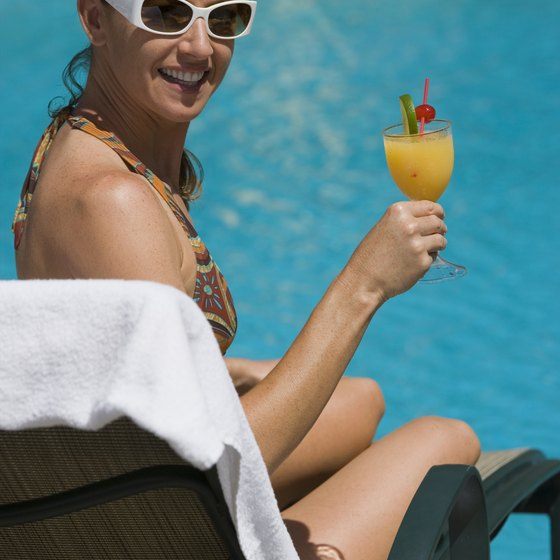 Enjoy a cocktail by the pool at an all-inclusive resort in the Caribbean or Mexico.