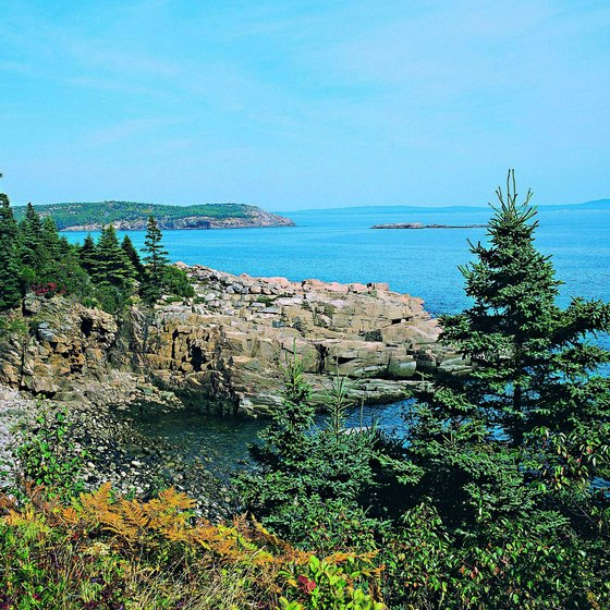 Acadia National Park occupies a large part of Mount Desert Island off the coast of Maine.