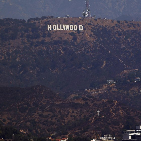 The famous Hollywood Sign can be seen from quite a distance.