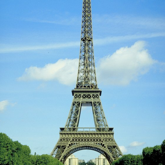 The Eiffel Tower presides over three bridges.