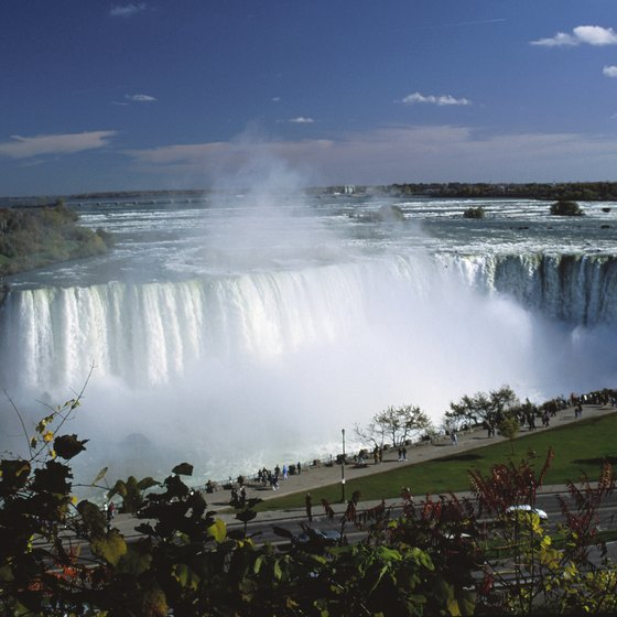 About 12 million tourists visit Niagara Falls each year.