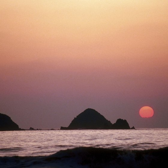 Sunset over Ixtapa, Mexico