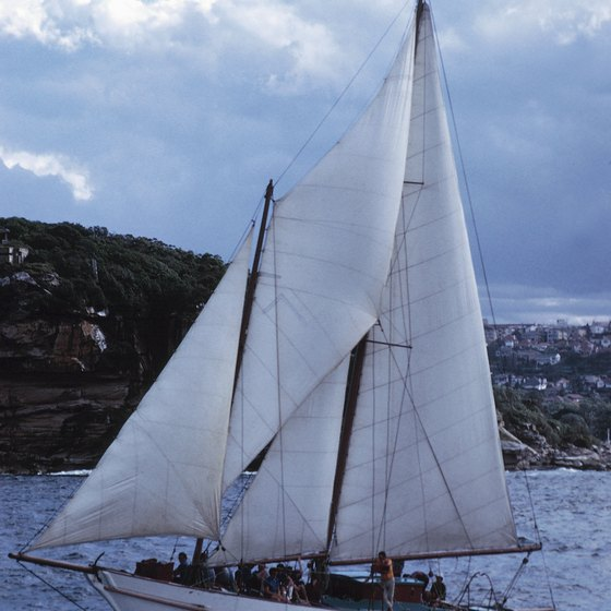 A schooner can be an exciting way to see the coast of Australia.