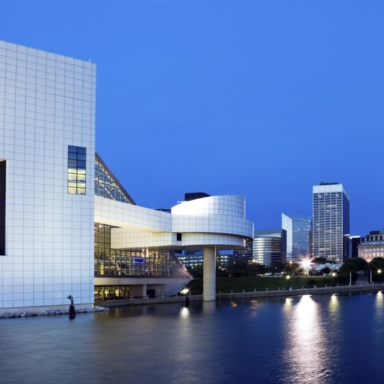 The Rock and Roll Hall of Fame sits on Ohio's Lake Erie shore.