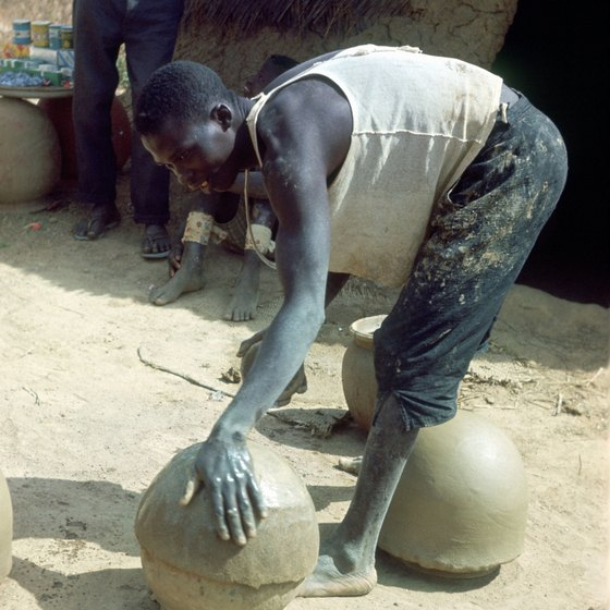 Pottery making, an ancient skill, is still an active trade in Nigeria.