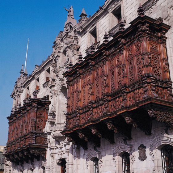 Lima is known for its baroque woodwork balconies.