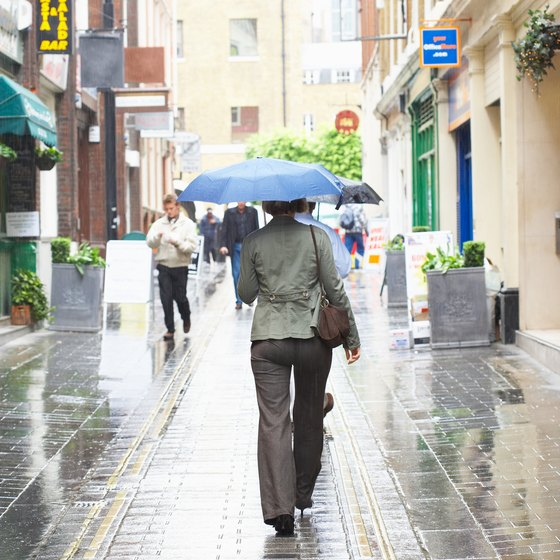 Save shopping for an umbrella in London by slipping a miniature collapsible in your carry-on.