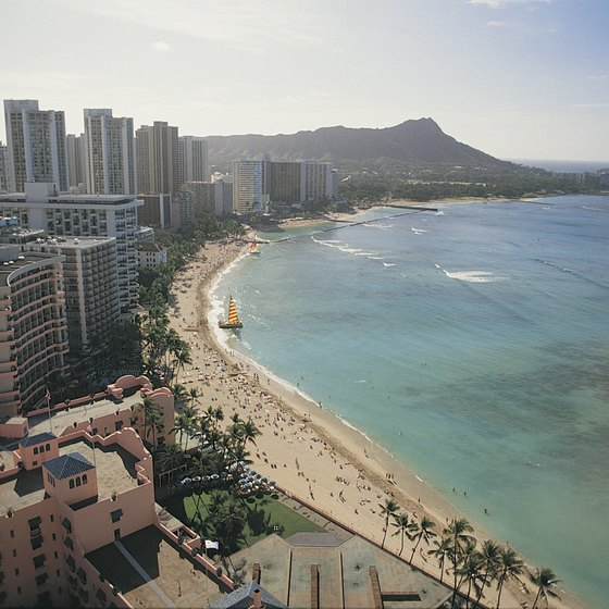 Waikiki Beach is one of the most popular tourist haunts on Oahu.