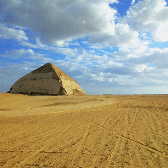 Dahshur's Bent Pyramid soars 344 feet into the sky.