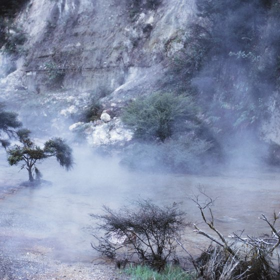 Natural geothermal springs are one of New Zealand's many natural environments.