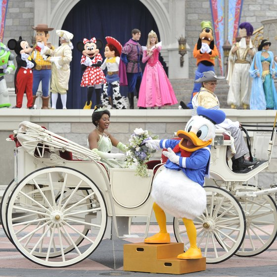Princesses and colorful characters make magic at Disney World Resort.