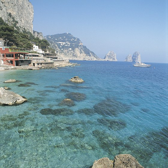 Capri enjoys an idyllic Mediterranean location.
