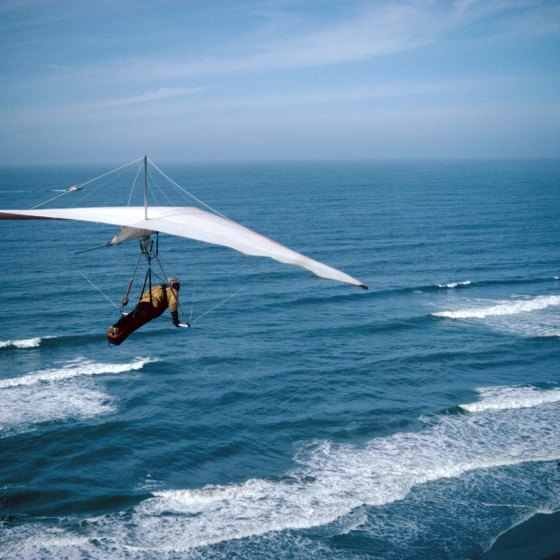 Puerto Rico's sapphire seas are the perfect backdrop for a hang glider.