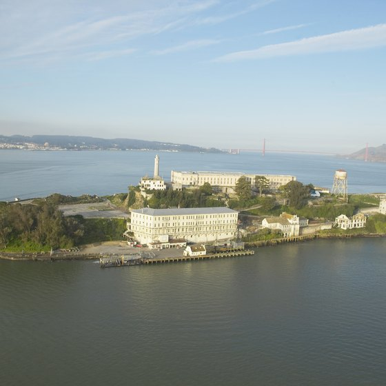 Alcatraz is a manmade point of interest in San Francisco Bay.