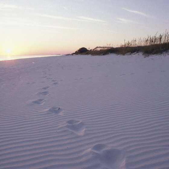 The sugar white sand beaches are a definite sight to see while in the Florida Panhandle.