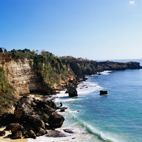 Bali's coastline offers lively coral reefs, perfect for snorkeling or diving.