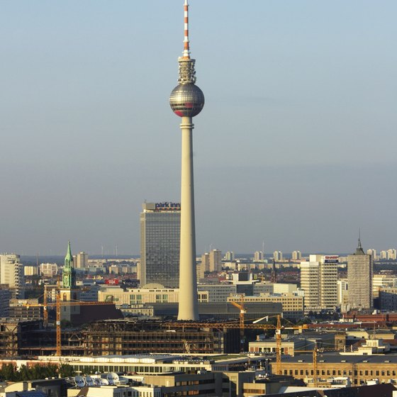 The Broadcast Tower punctuates the Berlin skyline.