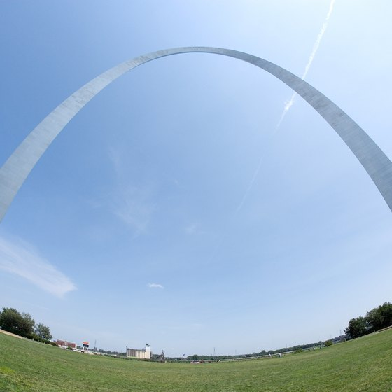 The Gateway Arch is a St. Louis landmark.