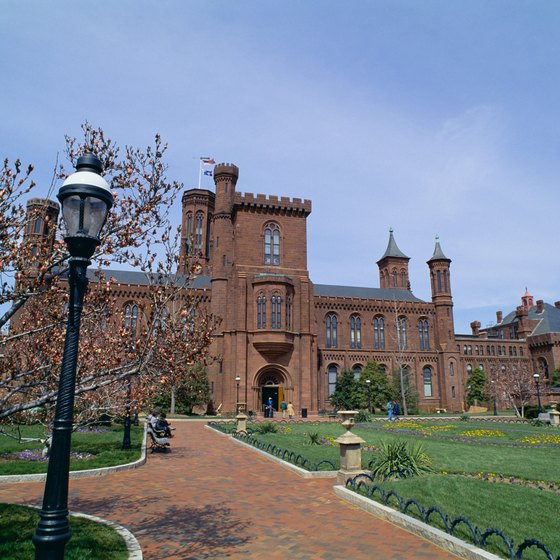 The Smithsonian Castle marks the south-central point of the National Mall.