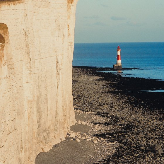 Dorset's dramatic coastal cliffs are part of the area's Jurassic Coast, which is rich in fossils.