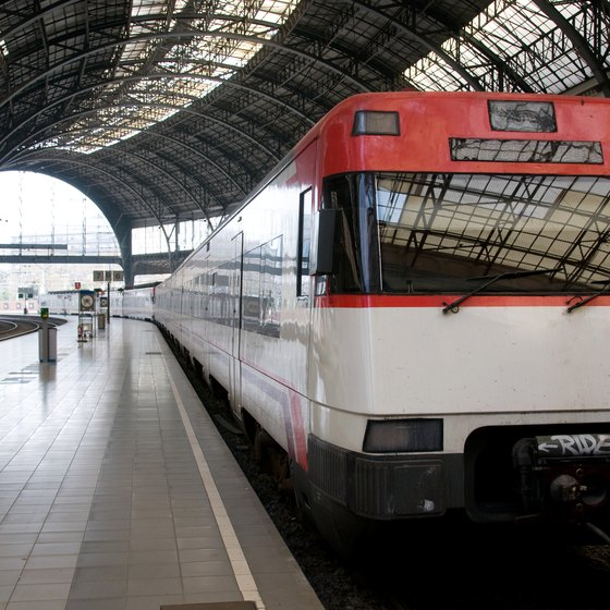 Many travelers between Rome and Barcelona opt to take the train.