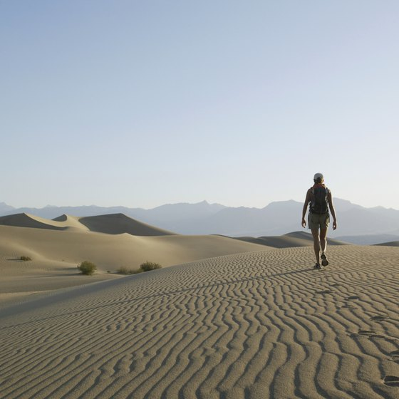 Death Valley regularly experiences triple-digit temperatures.