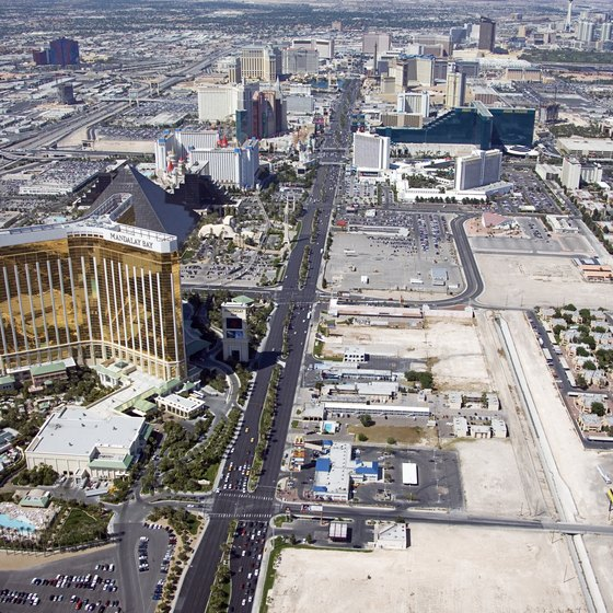 An ariel view of the famous Las Vegas strip.