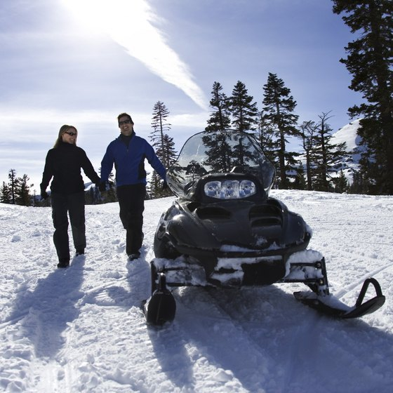 Enjoy over 14,000 miles of snowmobile trail in Maine.
