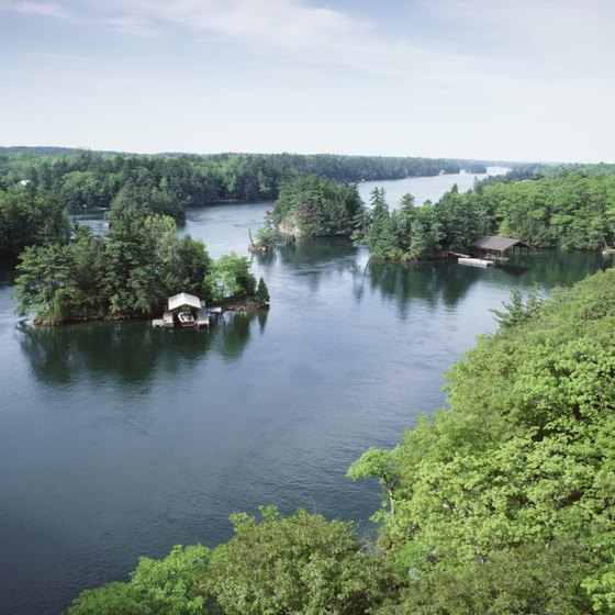 The picturesque Thousand Islands straddle the U.S.-Canadian border in upstate New York.