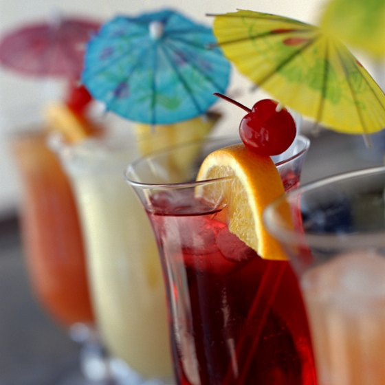 Beach bars in Brevard County serve an array of tropical drinks.