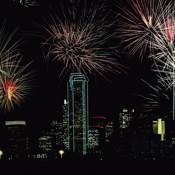 Fireworks light up the night skylines of Dallas and other Texas cities every July 4.