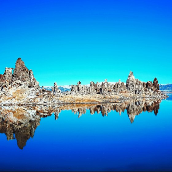 The salt lakes of Bolivia are nestled among spectacular mountain sceneries.