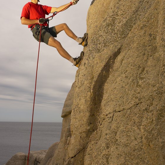 Rock climbing in southeastern New Mexico demands skill and physical endurance.
