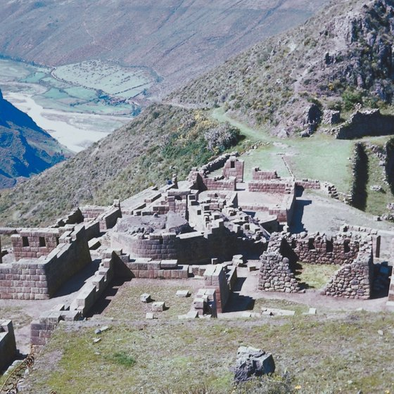 The Inca ruins of Pisac.