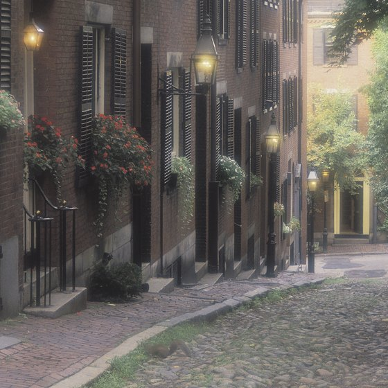 Boston's cobblestone streets aren't great for modern traffic, but they add to the romance of older neighborhoods like the North End.