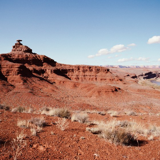 Monticello Utah is surrounded by rugged canyons.