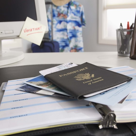 Don't forget your passport when you check in for an international flight.