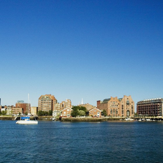 Explore the Boston Harbor to find a variety of urban beach vacations.