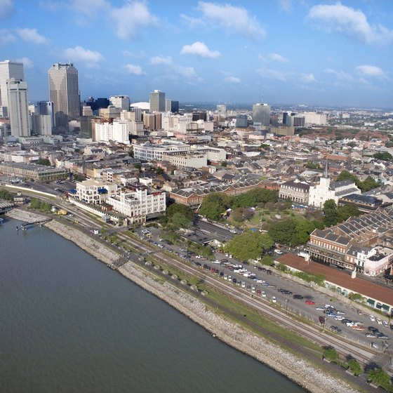 New Orleans developed as a Mississippi River port.