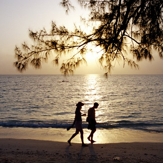 Seven Mile Beach is the ideal location for a romantic honeymoon stroll.