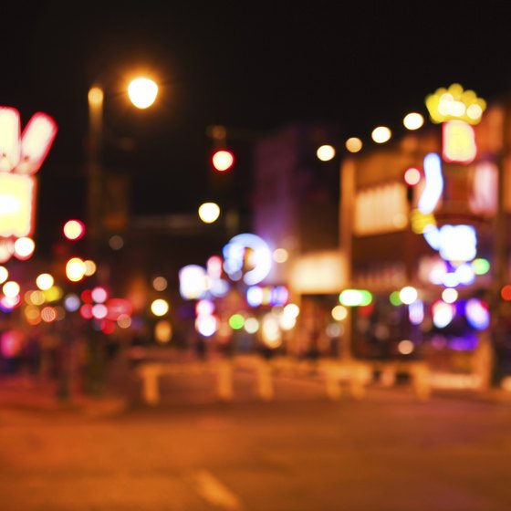 Take a break from Music City, and try out Memphis' own music scene on Beale Street.