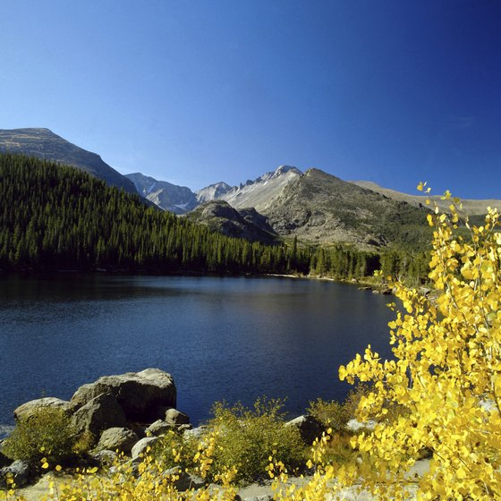 Bear Lake is one of Rocky Mountain National Park's popular hiking destinations.