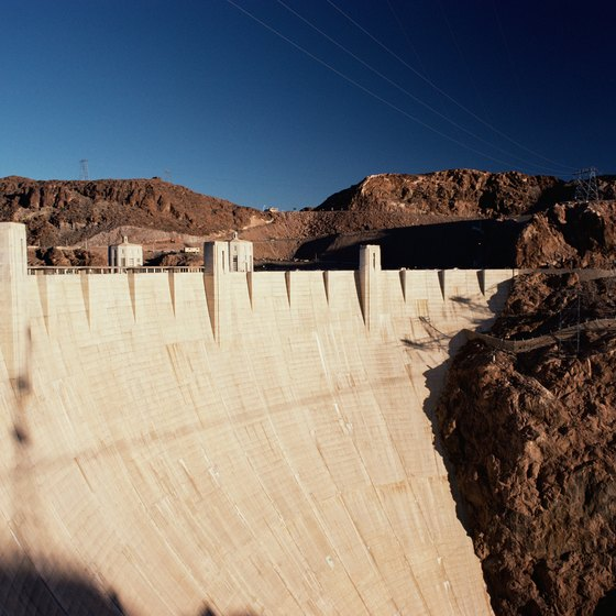 Hoover Dam provides hydroelectric power to Arizona, Nevada and California.