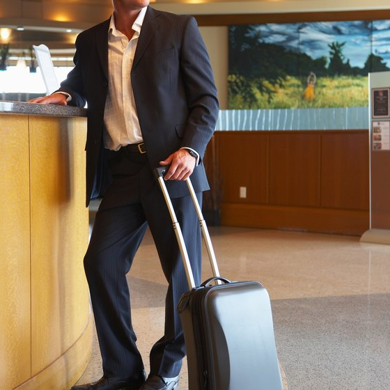 Rolling suitcases make it easier for you to get around.